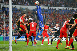 Wayne Hennessey of Wales (Crystal Palace) gathers the ball - Photo mandatory by-line: Rogan Thomson/JMP - 07966 386802 - 12/06/2015 - SPORT - FOOTBALL - Cardiff, Wales - Cardiff City Stadium - Wales v Belgium - EURO 2016 Qualifier.