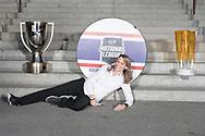 Die SC Rapperswil-Jona Lakers am 27. April 2018 nach der erfolgreichen Saison als Cupsieger, Swiss League Meister und Aufsteiger in die National League, bei der St. Galler Kantonalbank Arena. (Thomas Oswald)
