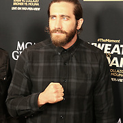 Jake Gyllenhaal is seen on the red carpet prior to the Mayweather versus Maidana boxing match at the MGM Grand hotel on Saturday, May 3, 2014 in Las Vegas, Nevada.  (AP Photo/Alex Menendez)