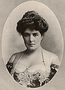 Mrs George Cornwallis-West (born Jennie Jerome -  1854-1921) American society beauty, widow of Lord Randolph Churchill and mother of Winston Churchill who became  British Prime Minister. Married Cornwallis-West in 1900.