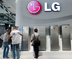 LG display at IFA consumer electronics trade fair in Berlin Germany 2011