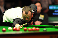 Mark Williams in action during his match against Ronnie O'Sullivan, 888 Welsh open snooker day 4 action at the Newport Centre in Newport , South Wales on Thursday 16th Feb 2012.  pic by Andrew Orchard, Andrew Orchard sports photography,