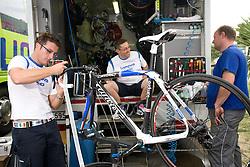 Service of Lampre team at day before start of Tour de Slovenie 2009, on June 17 2009, in Koper, Slovenia. (Photo by Vid Ponikvar / Sportida)