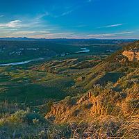 The sun sets over the Upper Missouri River Breaks in Fergus County, Montana, part of a recent national monument.