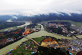 Aerial photo Floods in China