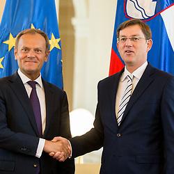 20170403: SLO, Politics - Donald Tusk and Miro Cerar in Ljubljana