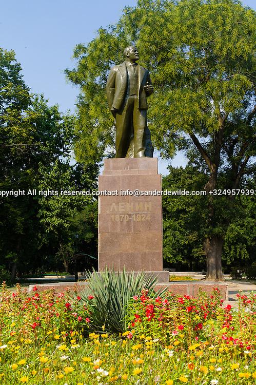 20150826 Bendery, Bender, Transnistria, Moldova.Statue of Lenin at Lenin Street in Bendery