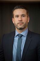 DEU, Deutschland, Germany, Arnstadt, 18.02.2017: Portrait Thorsten Weiß, Vorsitzender der Jungen Alternative Berlin, Landeswahlversammlung der Partei Alternative für Deutschland (AfD) in Thüringen.