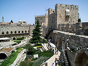 Interior of the David citadel and Tower in the old city of Jerusalem, Israel
