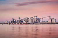 The Louis Dreyfus Grain facility at the Port of Greater Baton Rouge delivers grain from the facilities dock on the Mississippi River.