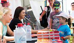 December 30, 2018 - Brisbane, AUSTRALIA - Daria Gavrilova & Ajla Tomljanovic of Australia sign autographs at the 2019 Brisbane International WTA Premier tennis tournament (Credit Image: © AFP7 via ZUMA Wire)