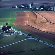 Amish Funeral, Myers Cemetery and farm, Fall, Lancaster Co., Pennsylvania