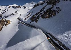 THEMENBILD - ein Traktor mit Schneefraese räumt die Strasse nach einem Lawinenabgang. Die Grossglockner Hochalpenstrasse verbindet die beiden Bundeslaender Salzburg und Kaernten und ist als Erlebnisstrasse vorrangig von touristischer Bedeutung, aufgenommen am 23. Mai 2019 in Fusch a. d. Grossglocknerstrasse, Österreich // a tractor with a snow plough clears the road after an avalanche. The Grossglockner High Alpine Road connects the two provinces of Salzburg and Carinthia and is as an adventure road priority of tourist interest, Fusch a. d. Grossglocknerstrasse, Austria on 2019/05/23. EXPA Pictures © 2019, PhotoCredit: EXPA/ JFK