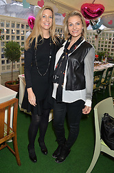 Left to right, SARAH CHAPMAN and EMMA O'BYRNE  at a ladies Valentine's Breakfast to launch the new healthy food menu at royal favourite restaurant Bumpkin, 119 Sydney Street, London on 14th February 2014.