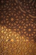 Door detail in Hassan II Mosque in Casablanca, Morocco