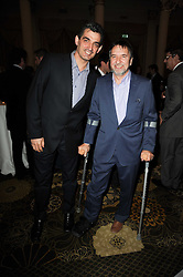 Left to right, chefs BRUNO LOUBET and RAYMOND BLANC  at the Tatler Restaurant Awards, at the Langham Hotel, Portland Place, London n 10th May 2010.