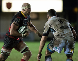 Dragons' Rynard Landman<br /> <br /> Photographer Simon King/Replay Images<br /> <br /> Guinness PRO14 Round 14 - Dragons v Glasgow Warriors - Friday 9th February 2018 - Rodney Parade - Newport<br /> <br /> World Copyright © Replay Images . All rights reserved. info@replayimages.co.uk - http://replayimages.co.uk