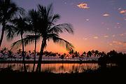 Sunset, Waikoloa, Anaeho'omalu Bay, Island of Hawaii, Hawaii, USA<br />