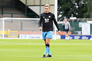 Jack Evans (16) of Forest Green Rovers warming up ahead of the Pre-Season Friendly match between Yeovil Town and Forest Green Rovers at Huish Park, Yeovil, England on 31 July 2021.