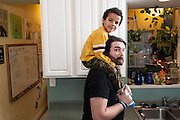 BALTIMORE, MD -- 12/22/14 -- Benjamin Jancewicz, 31, a designer from Baltimore, with his son, Arion Jancewicz, 6, talks about the complexity of being a biracial family.…by André Chung #_AC23562