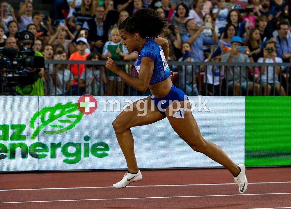 Mujinga KAMBUNDJI of Switzerland competes in the Women's 200m during the Iaaf Diamond League meeting (Weltklasse Zuerich) at the Letzigrund Stadium in Zurich, Switzerland, Thursday, Aug. 29, 2019. (Photo by Patrick B. Kraemer / MAGICPBK)