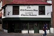 The Old Curiosity Shop. As immortalised by Charles Dickens. Lincoln's Inn Fields, central London.