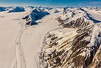 Aerial view over Glacier Bay National Park, southeast Alaska USA.