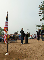 Memorial Middle School's Memorial Day service at Opechee Cove  May 27, 2011.  Karen Bobotas/for the Laconia Daily Sun