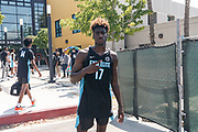 THOUSAND OAKS, CA Sunday, August 12, 2018 - Nike Basketball Academy. Kahlil Whitney 2019 #17 of Roselle Catholic HS poses for a photo. <br /> NOTE TO USER: Mandatory Copyright Notice: Photo by Jon Lopez / Nike