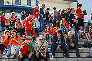Fans arriving outside the stadium ahead of the UEFA Nations League match between Portugal and Netherlands at Estadio do Dragao, Porto, Portugal on 9 June 2019.