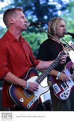 Don McGlashan and Sean James Donnelly perform at WOMAD Taranaki.