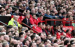 Manchester United caretaker manager Ole Gunnar Solskjaer in the dugout
