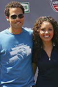 l to r: Quddus and Susie Castillo at The 2008 Arthur Ashe Kids' Day held at The USTA Bille Jean King National Tennis Center on August 23, 2008 in Flushing, NY