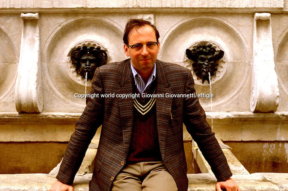 Pier Vittorio Tondelli<br />world copyright Giovanni Giovannetti/effigie / Writer Pictures<br /> <br /> NO ITALY, NO AGENCY SALES / Writer Pictures<br /> <br /> NO ITALY, NO AGENCY SALES
