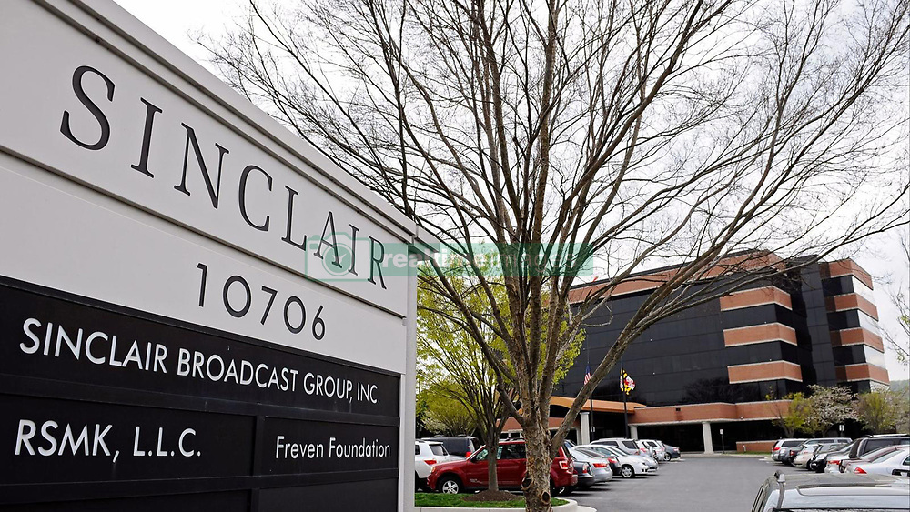 April 24, 2018 - USA - Sinclair Broadcast Group's headquarters. Sinclair Broadcast Group will divest 23 TV stations aimed at clearing the path for its merger with Tribune Media, the company announced Tuesday, April 24, 2018. (Credit Image: © Kenneth K. Lam/TNS via ZUMA Wire)