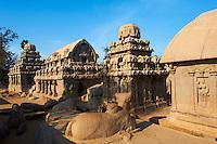 Inde, etat du Tamil Nadu, Mamallapuram ou Mahabalipuram, les cinq Ratha, patrimoine mondial de l Unesco // India, Tamil Nadu, Mamallapuram or Mahabalipuram, Five Ratha, Unesco world heritage
