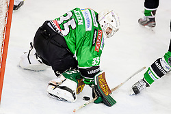 26.01.2014, Hala Tivoli, Ljubljana, SLO, EBEL, HDD Telemach Olimpija Ljubljana vs Dornbirner Eishockey Club, 4. Plazierungsrunde, in picture Jerry Kuhn (HDD Telemach Olimpija, #35) during the Erste Bank Icehockey League 4th Placing round between HDD Telemach Olimpija Ljubljana and Dornbirner Eishockey Club at the Hala Tivoli, Ljubljana, Slovenia on 2014/01/26. Photo by Urban Urbanc/ Sportida
