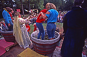 Grape stomping, PA Renaissance Faire, Mount Hope Estate and Winery, Manheim, PA