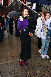 September 13, 2018 - New York, New York, United States - Celebrity/fashionista attends Marc Jacobs show at New York Fashion Week,  in New York City, US, on 12 September 2018. (Credit Image: © Oleg Chebotarev/NurPhoto/ZUMA Press)