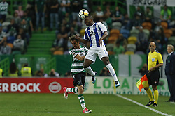 April 18, 2018 - Lisbon, Lisboa, Portugal - FC Porto Defender Ricardo Pereira from Portugal (R) and Sporting CP Defender Fabio Coentrao from Portugal (L) during the Sporting CP v FC Porto - Portuguese Cup semi finals 2 leg at Estadio Jose Alvalade on April 18, 2018 in Lisbon, Portugal. (Credit Image: © Dpi/NurPhoto via ZUMA Press)