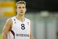 Heiko Schaffartzik #8 of Germany during basketball match between National teams of Germany and Belgium at Day 2 of Eurobasket 2013 on September 5, 2013 in Tivoli Hall, Ljubljana, Slovenia. (Photo By Urban Urbanc / Sportida )