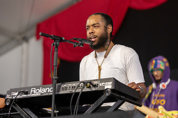 May 3, 2018 - New Orleans, Louisiana, U.S - TERRACE MARTIN and MONONEON (DWAYNE THOMAS JR.) during 2018 New Orleans Jazz and Heritage Festival at Race Course Fair Grounds in New Orleans, Louisiana (Credit Image: © Daniel DeSlover via ZUMA Wire)