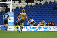 Cardiff Blues v Australia at the Cardiff City Stadium on Tuesday 24th Nov 2009. pic by Andrew Orchard, Andrew Orchard sports photography. Luke Morahan scores a try for Australia