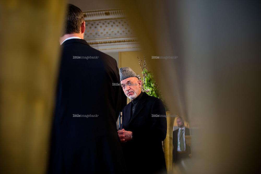 Oslo, Norge, 05.02.2013. Hamid Karzai besøker Oslo. Foto: Christopher Olssøn.