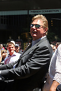Steve Carlton at the Major League Baseball All-Stars and 49 Hall of Famers ride up Sixth Avenue in All Star-Game Red Carpet Parade Presented by Chevy on July 15, 2008