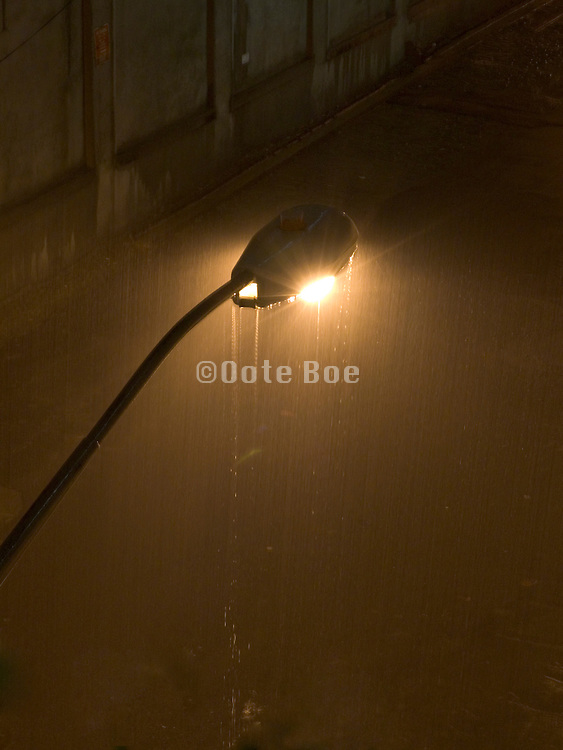 streetlight in a thunderstorm