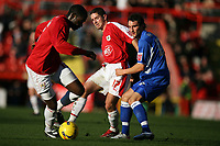 Photo: Rich Eaton.<br /> <br /> Bristol City v Millwall. Coca Cola League 1. 16/12/2006. Alex Russell #17 plays a through ball for Encoh Showunmi of Bristol