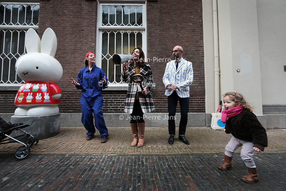 Nederland, Utrecht, 5 februari 2016.<br /> Opening nieuw Nijntje museum.<br /> De eerste bezoekertjes van het nieuwe  museum ontdekken de wereld van nijntje.<br /> Vanaf 6 februari 2016 iis het museum geopend voor het publiek.<br /> <br /> Opening of the new Nijntje Museum in Utrecht, the Netherlands.<br />  <br /> Foto: Jean-Pierre Jans