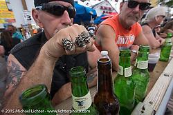 Main Street Station bar during Daytona Beach Bike Week 2015. FL, USA. March 14, 2015.  Photography ©2015 Michael Lichter.