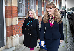 FILE IMAGE © Licensed to London News Pictures. 31/10/2019. London, UK. Labour Party MPs and flatmates Rebecca Long Bailey (L) and Angela Rayner arrive at an election campaign rally at Battersea Arts Centre. Photo credit: Peter Macdiarmid/LNP